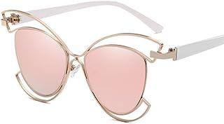 2bab0bdef5 BiuTeFang Gafas de Sol Mujer Hombre Polarizadas Carácter Europeo y  Americano Hueco Medio Marco Gafas de