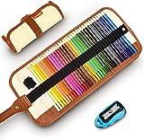 Lápices De Colores Set, 36 Kit De Dibujo De Lápiz De Color Con Roll Up Canvas Caso...