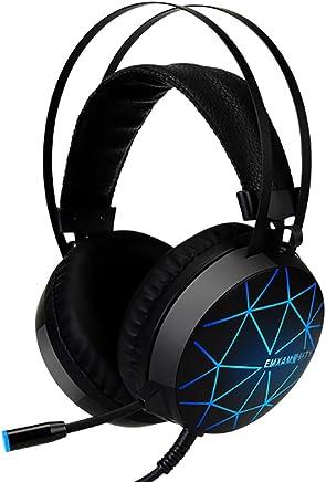 T&SHY Cuffie da Gioco Stereo 7.1, Auricolare da 50 mm Cuffie per la respirazione a Sette Colori Cuffie per la riduzione del Rumore Cuffie da 3,5 mm per la riduzione del Rumore,Headphones - Trova i prezzi più bassi