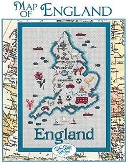 England Map Cross Stitch Chart and Free Embellishment