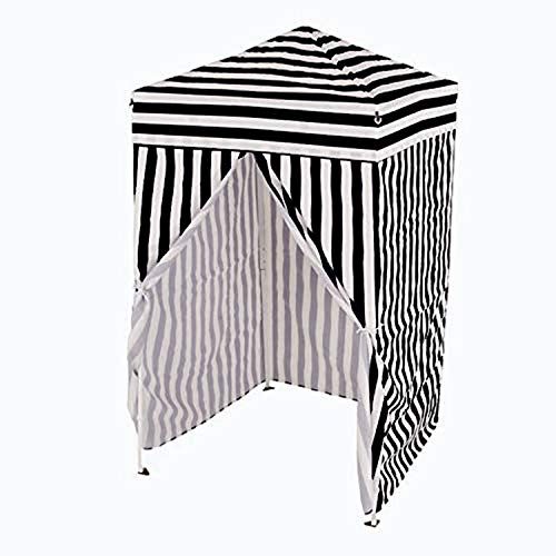 Impact Canopy 740010091 Pop-Up Canopy Changing Dressing Room, Shelter folds down to 8'x8'x47', Black,White