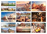 High Definition Digital Prints on Premium Quality Art Paper Set of 9 Postcard Uttar Pradesh (UP, India) Perfect for Gifting Can be used as a Greeting/Bookmark Size : 6x4 Inch