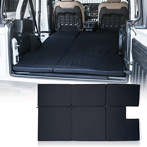 Xprite Black Mattress Sleeping Camping Bed Pad Platform, NitePad Sand Premium 1.5-inch Thick Portable Trunk Cushion for 2018-2021 Jeep Wrangler JL