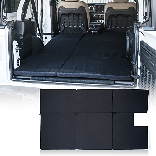 Xprite Black Mattress Sleeping Camping Bed Pad Platform, NitePad Sand Premium 1.5-inch Thick Portable Trunk Cushion for 2018-2020 Jeep Wrangler JL