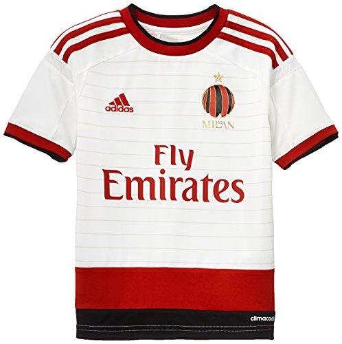 adidas Camiseta de Fútbol Bekleidung AC Mailand A Trikot Y Blanco/Rojo/Negro 16 años (176 cm)