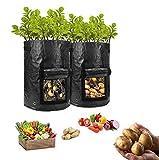 HomeFoundry 10 Gallon Potato Grow Bags – 2 Pack Portable...