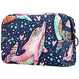 Bolsa de Maquillaje Delfín cromático Neceser de Cosméticos y Organizador de Baño Neceser de Viaje Bolsa de Lavar para Hombre y Mujer 18.5x7.5x13cm