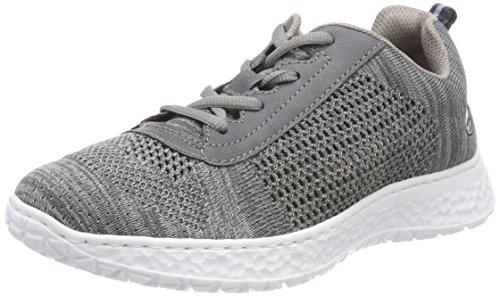 Rieker Damen N4105 Sneaker, Grau (Grau/Jeans), 40 EU