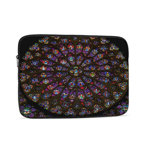 MacBook Pro Shell Case Desirable Church Rose Window Mackbook Case Multi-Color & Size Choices10/12/13/15/17 Inch Computer Tablet Briefcase Carrying Bag