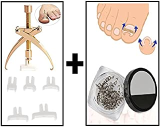 Ingrown Pincer Paronychia Toe Nail Straightening Correction Treatment Tool with Wire Brace Clamp 2 Piece Pedicure Set (See Instructions in Product Description)