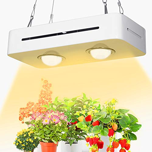 COB Led Grow Light 300W,PDGROW 3500K Sunlike White Full Spectrum for Indoor Plants Growing Lamp,High Par Value Output for Seedling, Hydroponic, Greenhouse, Succulents, Flower, Seed Starting