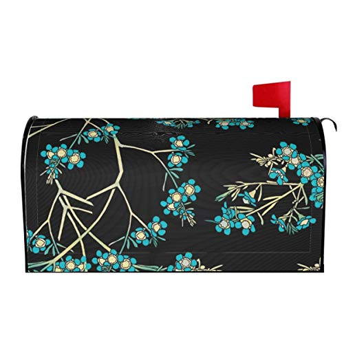 Fonsisi Floral Tree Magnetic Mailbox Cover, Superior Weather Durability Letter Post Box Cover Wrap Decoration for Welcome Home Garden Outdoor