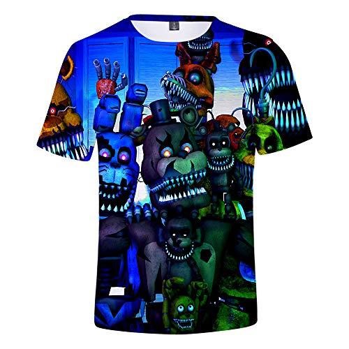 Godmoy Five Nights at Freddy'S Bear Camisetas Cosplay Disfraz nios Divertidos Camisetas 3D para nios nias nios