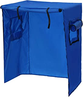 Bird Cage Cover Breathable Shading Dustproof Windproof Covers Protection Pet Supplies 38.1x23.6x51.2 Inch (Blue)