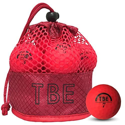 【FST限定モデル】トビエモン(TOBIEMON)ゴルフボールTOBIEMON視認性抜群!蛍光マットカラーゴルフボールR&A公認球2ピース12球入オリジナルメッシュバック入レッドT-AMZ-MRマットレッド