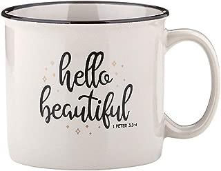 Hello Beautiful 1 Peter 3:3-4 Bible Verse Campfire Coffee Mug