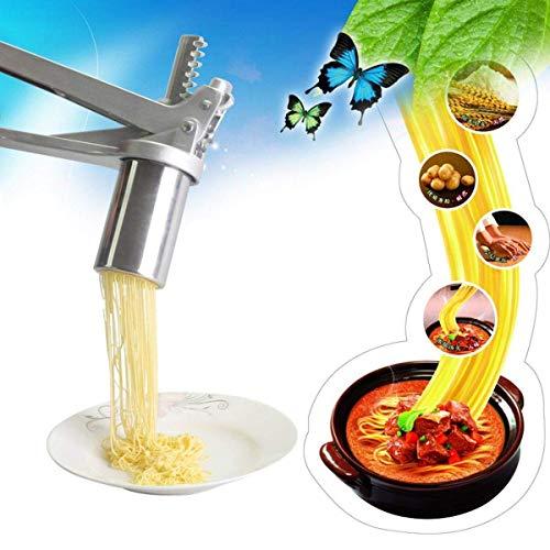 XBR Manuelle DIYPasta-Maschine Edelstahl-Nudel-Nudel-Hersteller Fruchtsaftpresse Spaghetti-Küchenmaschine Starke und langlebige hausgemachte Nudelmaschine (Farbe: Silber, Größe: Einhei