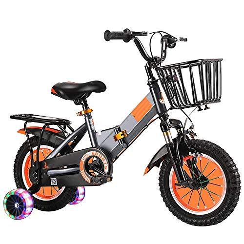 YumEIGE Freestyle Kinderfiets, voor jongens en meisjes, met steunwielen, opvouwbaar, geschikt voor maat 33 inch - 59 inch, kinderfiets, 12 14-16 en 18 inch, 4 kleuren