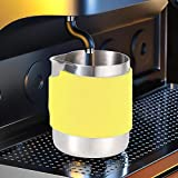 Coffee Pitcher, Milk Frothing Pitcher, Thickening for Espresso Machines Latte Art Milk Frothers Home(yellow)