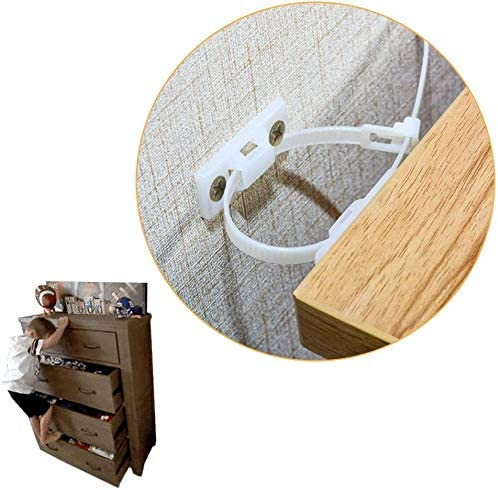 10 Pack Baby Proofing Inexpensive Anti Beauty products Anchors Tip Kit Furniture Cabinet