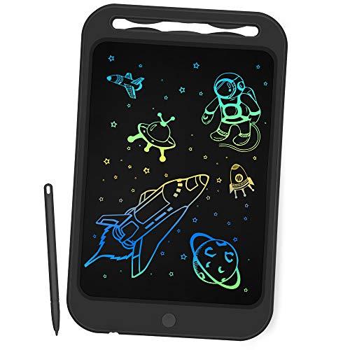Richgv Tavoletta Grafica LCD Scrittura Digitale, Elettronico Colorato 10 Pollici Portatile Ewriter Cancellabile Disegno, LCD Writing Tablet con Stilo per Bambini Adulti della Casa Scuola Ufficio