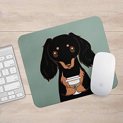 Dachshund Doxie Drink Koffie/Wijn Mousepad, Weiner Hond Muis Pad, Hond Liefhebber Gift Mousepads, Aztec Geometrische Grappige Laptop Accessoires, Size: 7.1x8.7 inches/18x22cm, Veelkleurig