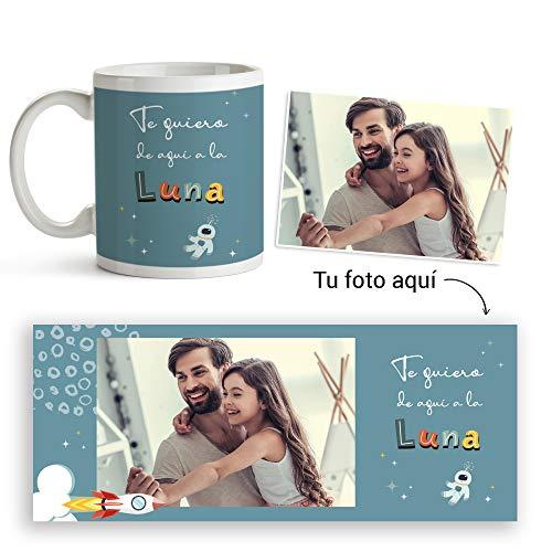 Fotoprix Taza Personalizada con Foto para Papá | Regalo Original día del Padre | Varios diseños Disponibles. (Diseño: Padre 1)