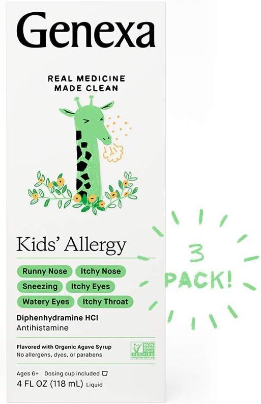 Genexa Kids' Liquid Max 67% OFF Allergy Medication 4oz - Med Branded goods 3pk