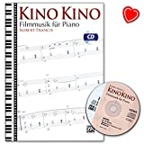 Kino Kino - Filmmusik für Piano - Noten mit CD und bunter herzförmiger Notenklammer - Alfred Music ALF20252G 9783943638875