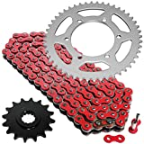 Caltric Red Drive Chain And Sprocket Kit Compatible With Yamaha R6 Yzf-R6 2003 2004 2005