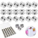 Xinmeng 36 Stück Spulen Nähmaschine Metal Nähmaschine Spulen Nähmaschine Spulen Set Metal mit Spulenbox für Haushaltsnähmaschine Nähzubehör Handwerk Werkzeuge (36)