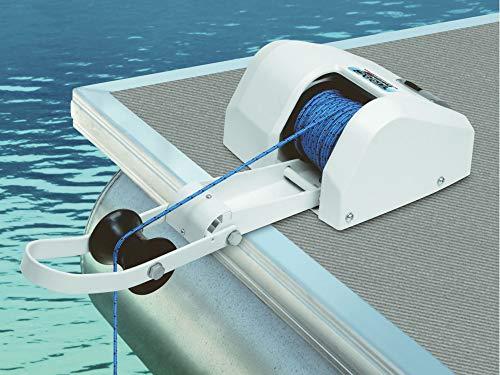 Elektrische Ankerwinde 30m 12V weiß Salzwasser für Anker bis 13,5Kg Seilwinde
