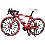 Doigt - Mini Bicicleta de montaña de Carretera Modelo Diecast Creative Sport Regalo para niños y jóvenes, Color Rojo, tamaño Talla Abierta