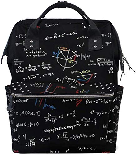Grappige wiskunde patroon leren luier zakken grote reis luier verpleegkundige rugzak mama tas