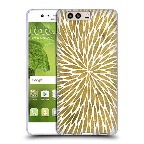 Head Case Designs Oficial Cat Coquillette Burst Gold Mandala Carcasa de Gel de Silicona Compatible con Huawei P10