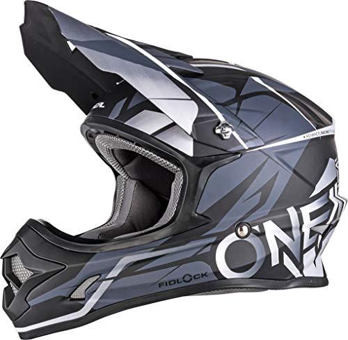 O'NEAL 3 Series Freerider Fidlock Motocross Enduro MTB Helm schwarz/grau 2018 Oneal: Größe: L (59-60cm)