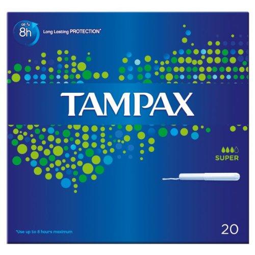 Tampax Karton-Applikator Super 20 Tampons (8 x 20 Stück)