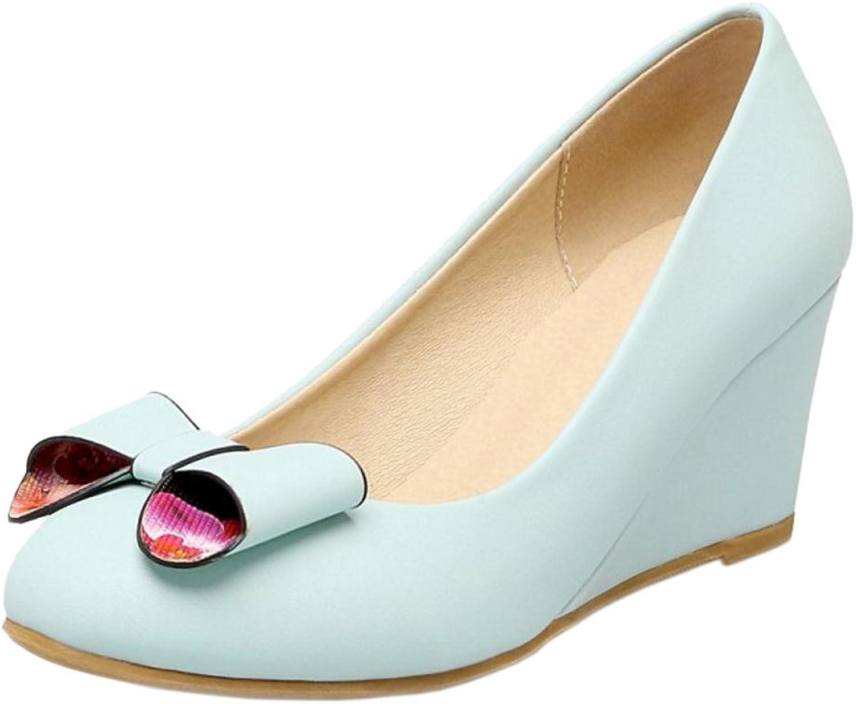 TAOFFEN Women's Wedge Heels Court shoes