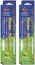 (2 Pack) Coralife 3X Turbo Twist UV Replacement Lamp, 9-Watt