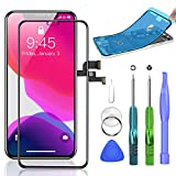 Compatible with iPhone X Screen Replacement 5.8 inch LCD Display with 3D Touch Display Digitizer Assembly with All Repair Tools + Screen Protector + Waterproof Glue