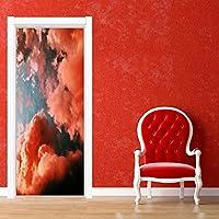 ドアデカール壁画ステッカー カラフルなドアステッカー自己粘着性の防水防水防湿家の装飾ステッカーステッカー