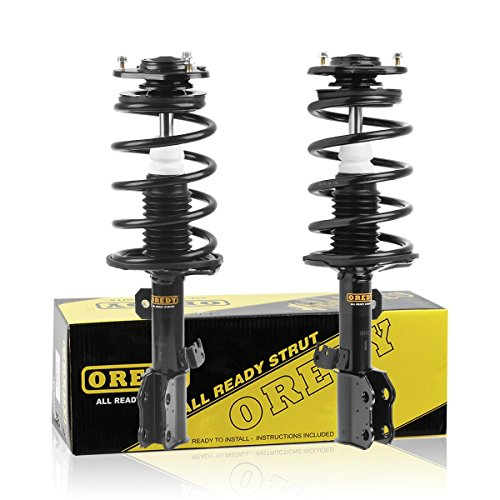 OREDY Front Pair Complete Struts Shocks Coil Springs Assembly Replacement for Toyota Matrix Pontiac Vibe 2003 2004 2005 2006 2007 2008 (Set of 2) # 172117 172116 SR4118 SR4117