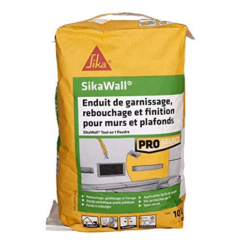 SikaWall Enduit Universel tout en 1 en poudre, 10kg ~ 10m²