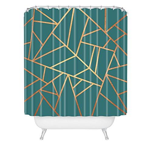 DENY Designs Elisabeth Fredriksson Copper and Teal Duschvorhang, Polyester, Grn, 72