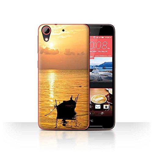 Stuff4® Hülle/Hülle für HTC Desire 628 / Fischerboot Muster/Sonnenuntergang Kollektion