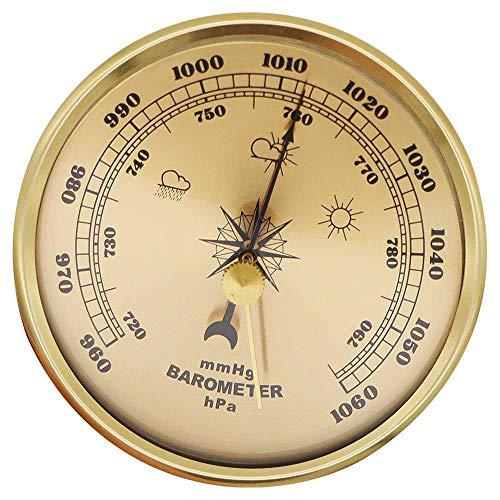 BEKwe Barómetro aneroide Monitor de Humedad Barómetro Higrómetro Termómetro Multifuncional Clima doméstico