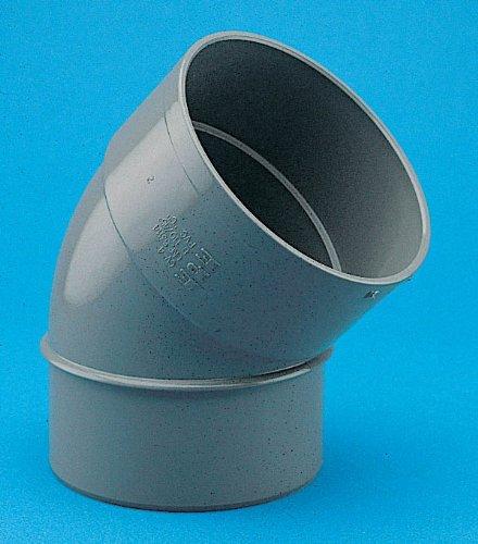 Adequa sistemas de canalón - Codo 45 pvc cv-4 macho-hembra diámetro 110