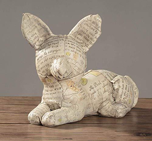 CHOUCHOU Taca na popiół kosz na gazety pies. Symulacja zwierząt domowych dekoracja domu salonu biblioteczka żywica 9