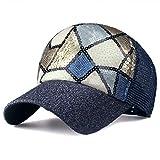 N\A Gorra de Beisbol Gorra De Béisbol para Mujer con Lentejuelas Gorra De Malla Gorra Elástica Sombrero para El Sol De Moda