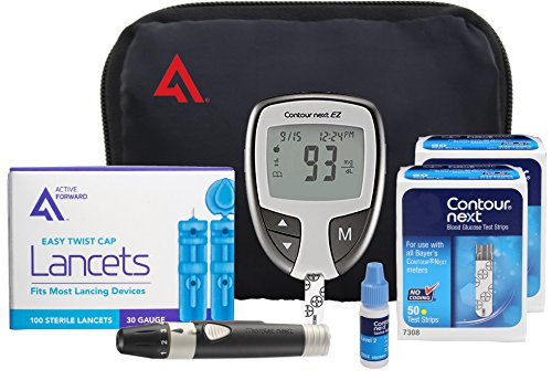 Contour NEXT EZ Diabetes Testing Kit | Contour NEXT EZ Blood Glucose Meter, 100...